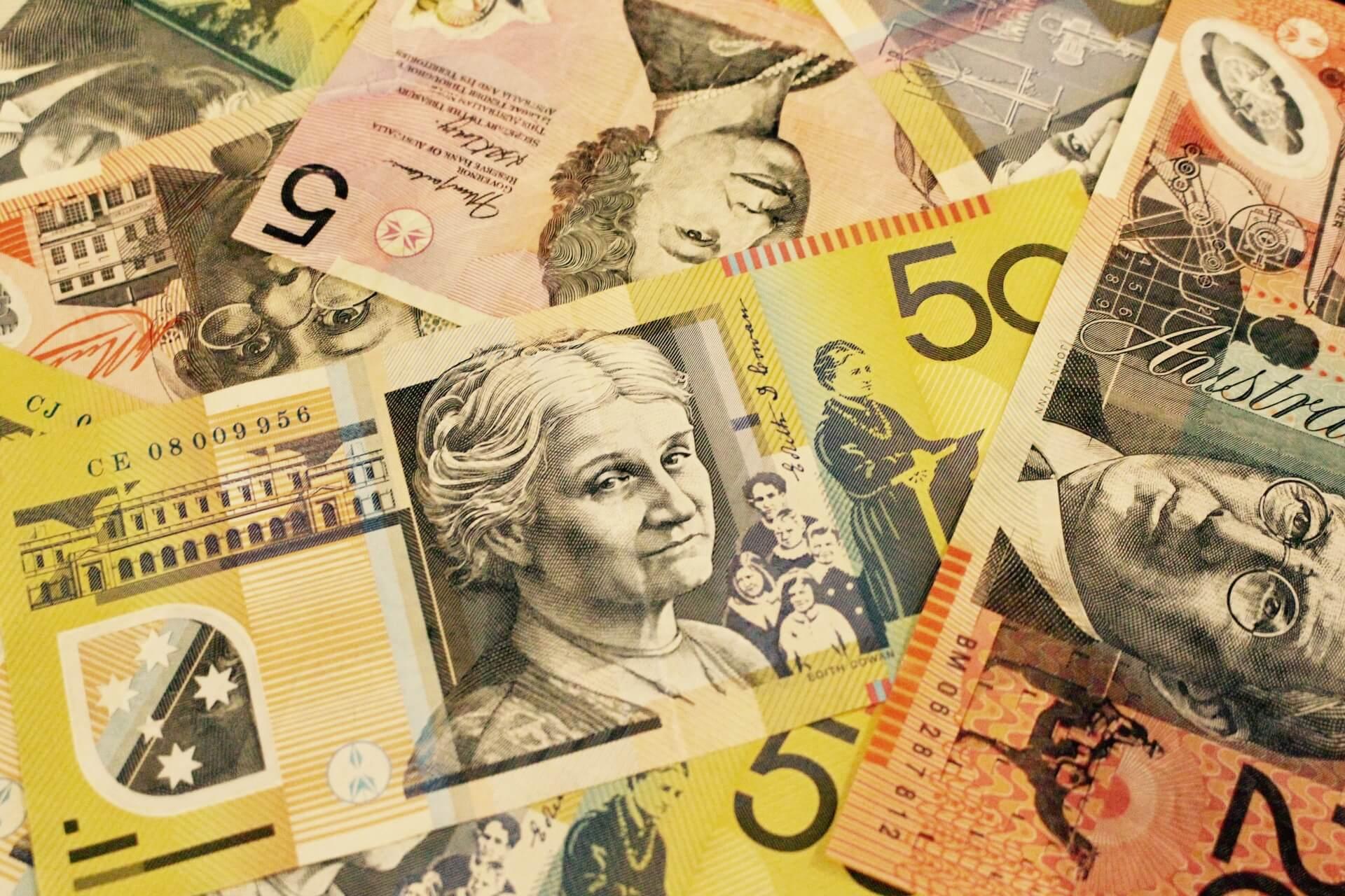 オーストラリアの銀行のお金