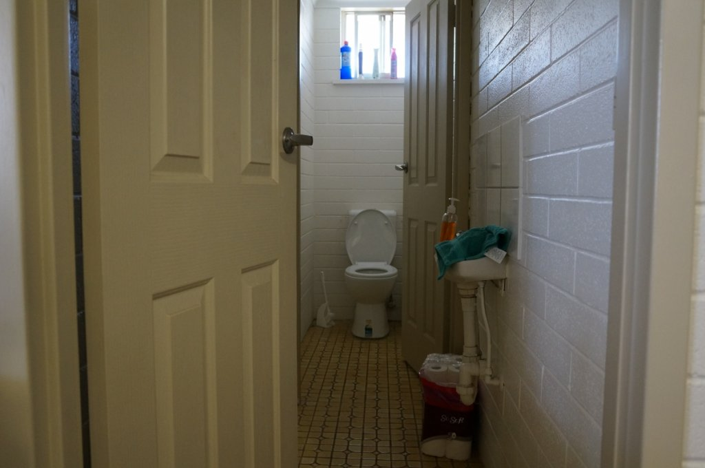 バックパッカーのトイレ