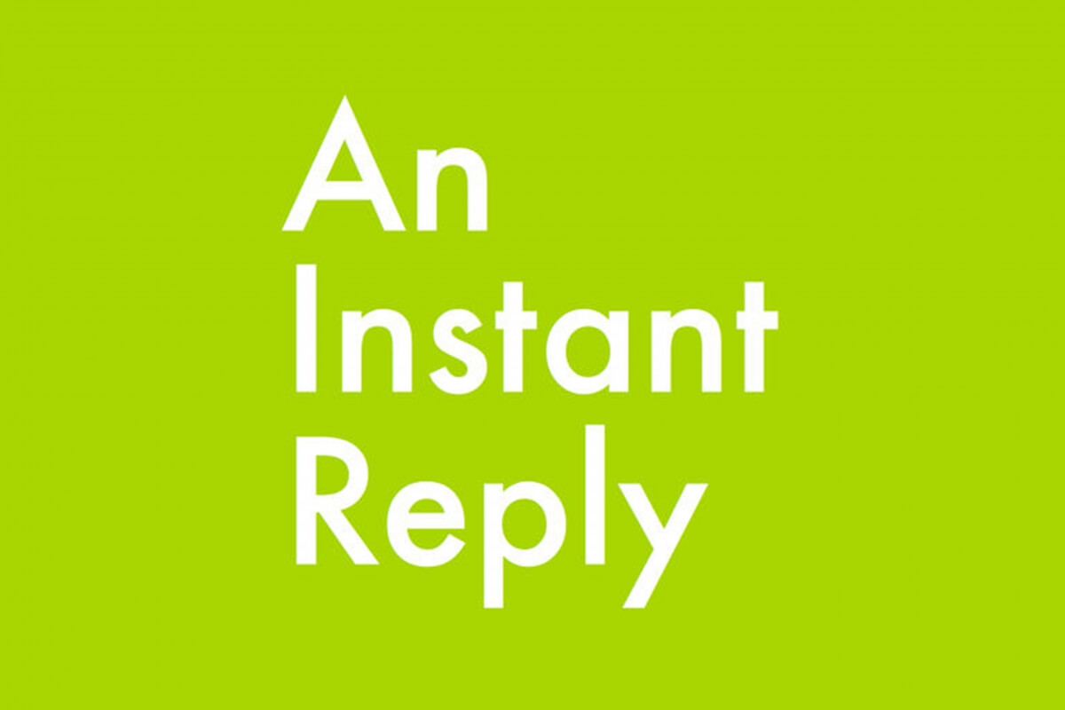 instant replyの画像