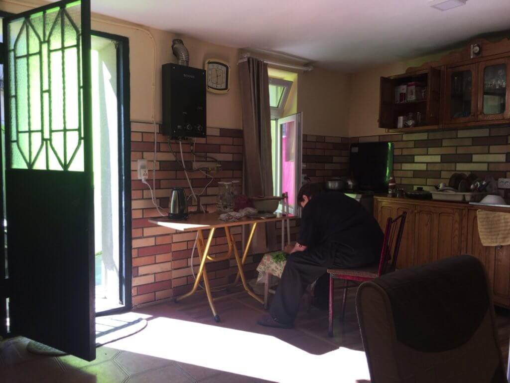 Kutaisiで安く泊まれる宿の内装